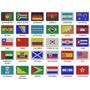 Mini Bandeira Bordada Patch Brasil Estados Países 3,5x5cm.