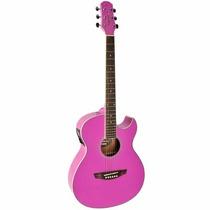 Violão Strinberg Aw53c Aço Elétrico Com Afinador - Pink