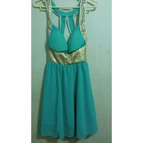 Hermoso Vestido Verde Agua Talla Xs
