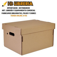 Cajas Archivo Carton Oficina Tapa Americana 42x32x25 X10 Uni