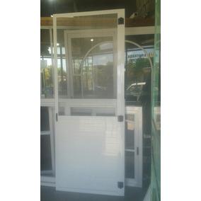 Puerta Mosquitero 1/2 Revestimiento, 1/2 Tela De Aluminio