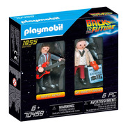 Playmobil Volver Al Futuro Muñecos Marty Y Doc Brown 70459