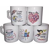 Tazas Ceramica /vaso Vidrio Dia De La Madre X1 Unidad