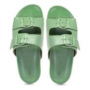 Sandália Birken Feminina Candy Color Verde Couro Legítimo