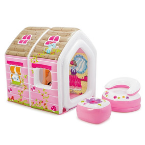 Princess Play House Casita Y Sillones 1.24m X 1.09m X 1.22m
