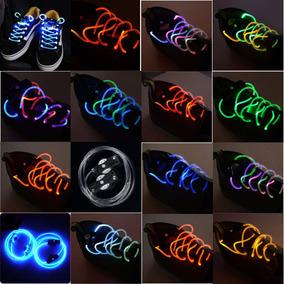 Par Agujetas Led Luminosas Colores Neón Pilas Cintas