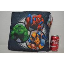Almohada Marvel Heroes Decorativa Hulk Hombre Araña Wolverin