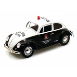 Volkswagen Fusca 1967 Policia Civil Greenlight 1:18