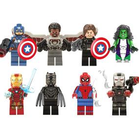 Set Sw2 Civil War Pantera Negra She Hulk Compatible Con Lego