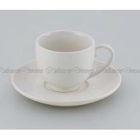 Conjunto 06 Xícaras De Café C/06 Píres 100ml De Porcelana