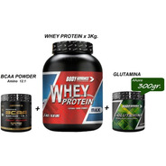 Whey Protein 3 Kg + L - Glutamina + Bcaa Powder Body Advance