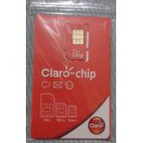 Chip Claro 4g .100 Unidades. Ddd Qualquer Lugar Do Brasil
