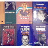 Lote X 6 Libros J. D. Perón Eva Perón John Cooke Ver Foto