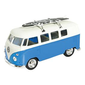 Miniaturas Carros 1:34 Vw Kombi E Fusca Surf Welly