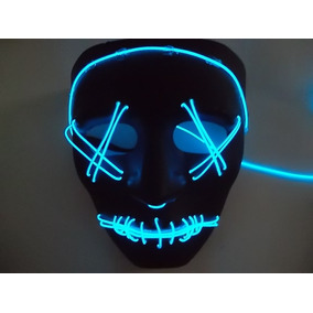 Mascara Con Luz De Neon La Purga Halloween Pregunta Modelo