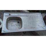 Lavaplatos De Acero Inoxidable 1.20 X 0.50 Con Desague