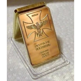 Alemanha Nazista - Barra Banhada A Ouro- Comemorativa Hitler