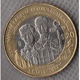 Moneda Veinte Pesos Conmemorativa Gesta De Veracruz