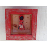Cuadro Mini Mickey Chiquito Rojo En 3 D