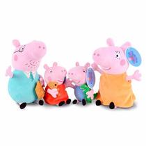 Peppa Pig E Familia 4 Personagens De Pelucia- Pronta Entrega