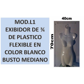 Maniquís De Blusa, 3/4 De Dama Plastico Flexible