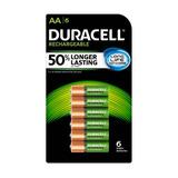 6 Baterias Recargables Duracell Aa 2500 Mah Envío Gratis