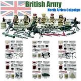 Segunda Guerra Mundial 8º Exercito Britânco Soldados Armas