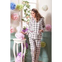 Laura Scott Pijama De Algodon 2 Piezas Small Envio Gratis