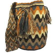 Wayuu Mochila Bag 100% Colombian Ethnic Hand Woven Lar W119