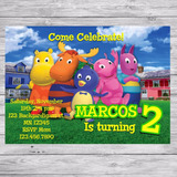 Kit Imprimible Backyardigans Invitaciones Golosinas Editable