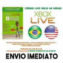Xbox Live Gold Brasil Br Usa Cartao Assinatura 48 Hrs 2 Dias