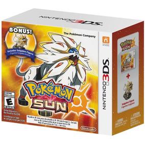 Pokemon Sun + Bonus Solgaleo Figure 3ds Novo Lacrado