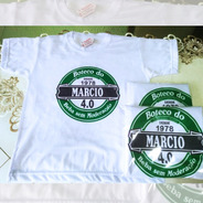 Kit 15 Camisetas Personalizadas Festa Aniversario Boteco
