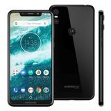Motorola One 64gb Preto Lacrado - Somos Loja - Nf