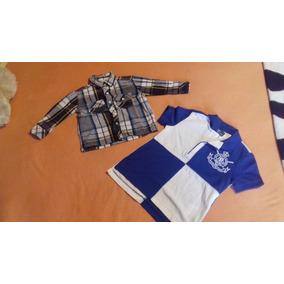 Infantil C. Xadrez E Camiseta Polo Ralph Lauren 1 Ano. 2 Por