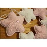 Pajaritos Pajaros Estrellas Crochet Guirnalda Lana Cuna Bebe