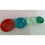 Ensaladera/ Mezcladora/ Bowl De Plástico - Juego/ Combo De 4