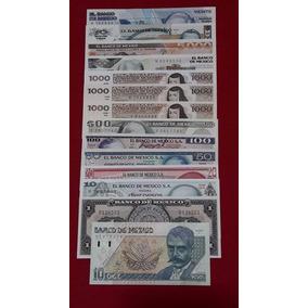 Juego 14 Billetes Andresqr, Zapata,lazaro C,niños Hero Y Mas