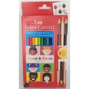 Lápis 12 Cores Faber Caras & Cores