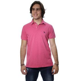 Camiseta Acostamento Gola Polo Rosa