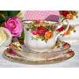 Trio De Té, Porcelana Royal Albert - Old Country Roses