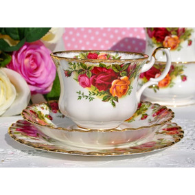 3 Trio De Té, Porcelana Royal Albert - Old Country Roses