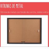 Vitrina De Metal De 60x90cm Con Fondo De Corcho
