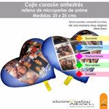 Cojin Almohada Corazon Personalizado Antiestres De 25x25 Cms