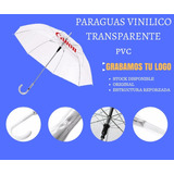 Paraguas Transparente Con Tu Logo - Regalos