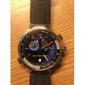 5c2a33fe0f2 Relogio De Pulso Louis Vuitton Mod. Lv277 - Relógio Masculino no ...