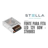 Fonte Profissional Para Fita Led Stella 12v 60w - Sth9893