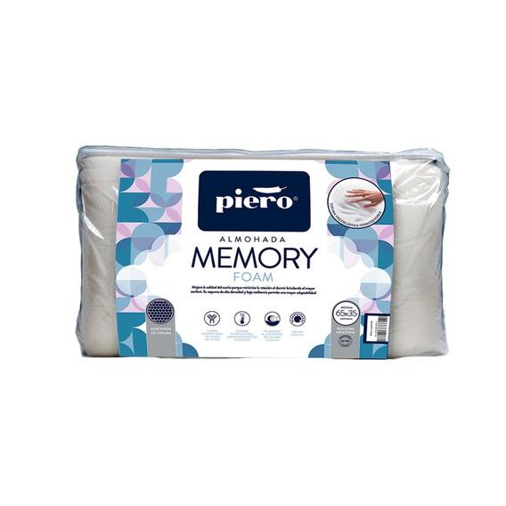 Almohada Inteligente Piero Memory Foam Pillow Con Memoria