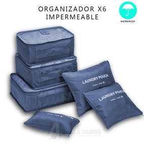Set Organizador De Viaje Ropa Valija 6 Piezas Impermeable