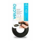Correas Velcro Precortadas 25 Pzas -negro Ajustables
